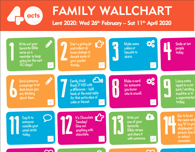 40 acts family wallchart preview